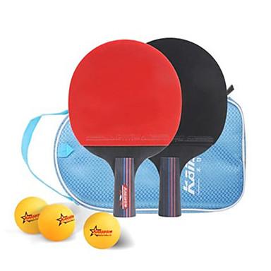Ping Pang/Tenis de masă Rackets Ping Pang Culoarea Lemnului Mâner Scurt Cosurile 2 Rachetă 1 Geantă Tennis de Masă 3 Mingi