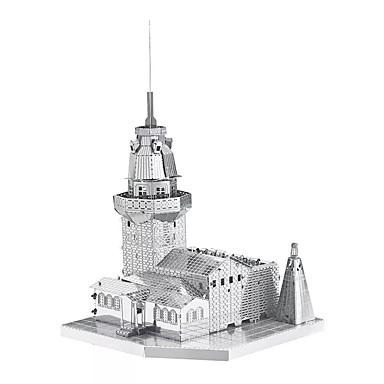 قطع تركيب3D تركيب تركيب معدني مجموعات البناء ألعاب برج بناء مشهور معمارية 3D اصنع بنفسك معدن للأطفال قطع