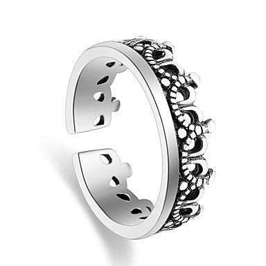 عصابة حزب مناسبة خاصة فضفاض مجوهرات تصفيح بطلاء الفضة خاتم 1PC,قابل للتعديل فضة