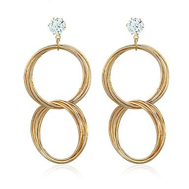 Damskie Kolczyki zwisają Syntetyczny diament Cyrkon Pozłacane Biżuteria Na Ślub Impreza Casual