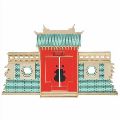 Zestaw DIY Klocki Zabawki 3D Zabawka edukacyjna Puzzle Drewniane puzzle Zabawki Kwadrat Znane budynki Chińska architektura profesjonalnym