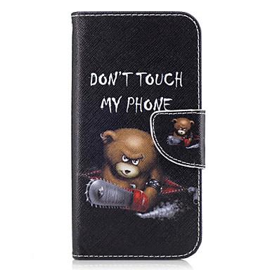 Maska Pentru Samsung Galaxy A5(2017) A3(2017) Titluar Card Portofel Cu Stand Întoarce Carcasă Telefon Animal Greu PU piele pentru A3