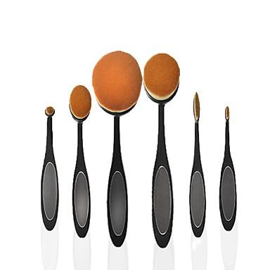6 Σετ Βούρτσα Βούρτσα Νάιλον Φορητά Επαγγελματικό Πλήρης Κάλυψη Πλαστικό Τσάντες Κονσίλερ Σκιά ματιών eyeliner Φρύδι Πρόσωπο Βάση Πούδρα