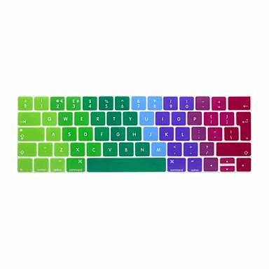 xskn® Ευρωπαϊκή english πολύχρωμο δέρμα πληκτρολόγιο σιλικόνης και γραμμή αφής προστάτης για το 2016 νεότερο MacBook Pro 13.3 / 15.4 με