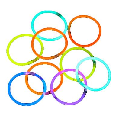 100pcs λάμψη φως μπαστούνια κόμμα χρωματιστά glowstick δαχτυλίδια φθορισμού