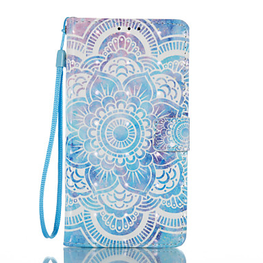 Pouzdro Uyumluluk Samsung Galaxy J5 (2016) J3 (2016) Kart Tutucu Cüzdan Satandlı Flip Temalı Manyetik Tam Kaplama Mandala Sert PU Deri
