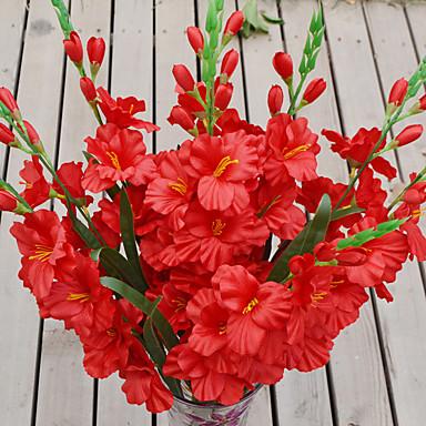 1 Gałąź Plastikowy Storczyki Bukiety na stół Sztuczne Kwiaty