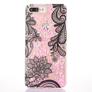 Για Θήκες Καλύμματα Ρέον υγρό Με σχέδια Πίσω Κάλυμμα tok Λάμψη γκλίτερ Σκληρή PC για Apple iPhone 7 Plus iPhone 7 iPhone 6s Plus iPhone 6