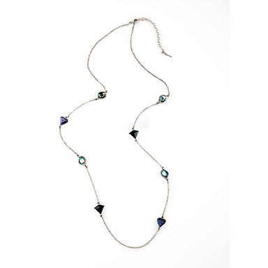 Damskie Łańcuszki na szyję Geometric Shape Modny Osobiste Dark Blue Biżuteria Na 1szt