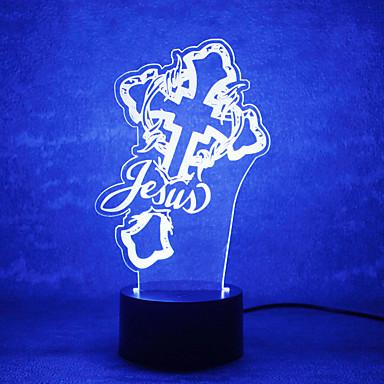 Χριστούγεννα θεός επαφή dimming 3D LED νύχτα φως 7colorful διακόσμηση λάμπα ατμόσφαιρα καινοτομία φωτισμού Χριστούγεννα φως