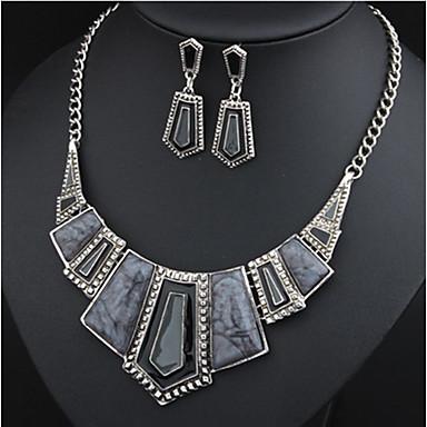 Pentru femei Set bijuterii - European, Euramerican Include Colier / cercei Rosu / Verde / Albastru Pentru Petrecere / Zilnic / Casual / Σκουλαρίκια / Coliere