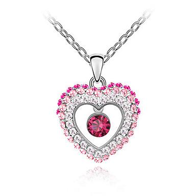 Kadın's Uçlu Kolyeler Kristal Eşsiz Tasarım Aşk Kalp Moda Euramerican Mücevher Uyumluluk Düğün Parti Doğumgünü