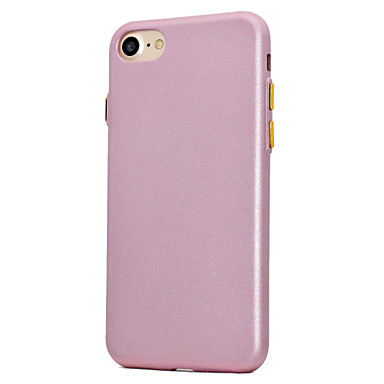 Etui Käyttötarkoitus Apple Pinnoitus Himmeä Takakuori Yhtenäinen väri Pehmeä TPU varten iPhone 7 Plus iPhone 7 iPhone 6s Plus iPhone 6
