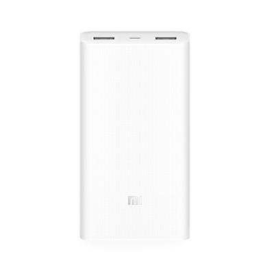 alkuperäinen xiaomi® PowerBank 2 20000mah kannettava laturi kahdella USB akku iphone Huawei samsung