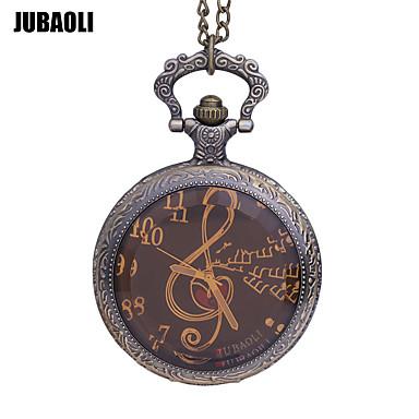 Χαμηλού Κόστους Ανδρικά ρολόγια-JUBAOLI Ανδρικά Ρολόι Τσέπης Χαλαζίας Μπρονζέ Καθημερινό Ρολόι / Αναλογικό Καθημερινό - Χρυσό Μαύρο Πορτοκαλί