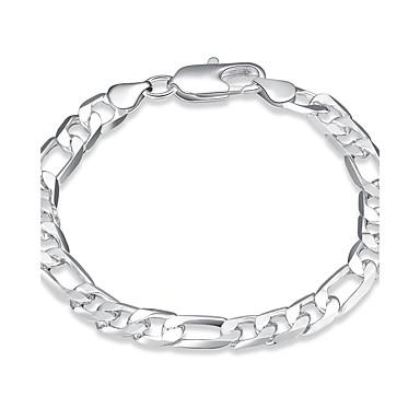 Kadın's Genç Kız Zincir & Halka Bileklikler Arkadaşlık Moda Eski Tip Gümüş Kaplama Geometric Shape Mücevher Uyumluluk Düğün Parti Özel