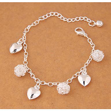 Dame Vedhend Armband - Hjerte damer, Mote Armbånd Smykker Sølv Til Fest