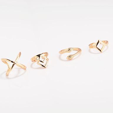 Pentru femei Inel Bijuterii Personalizat Γεωμετρικά Euramerican Modă Ocazie specială Zilnic Casual Aliaj Șarpe Geometric Shape Inele
