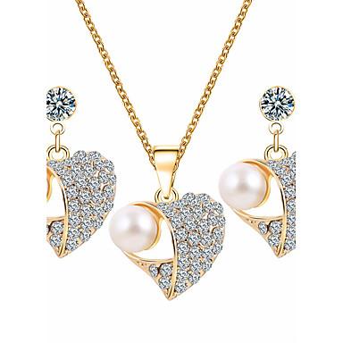 Damskie Zestawy biżuterii Rhinestone Imitacja pereł Kryształ górski Stop Serce Podstawowy Ślub Impreza Specjalne okazje Codzienny Casual