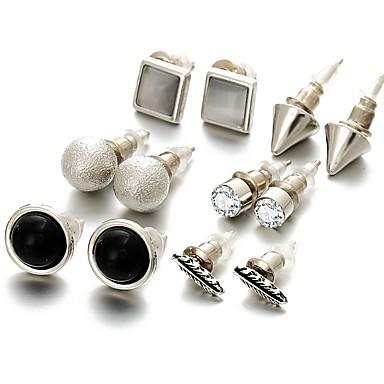 Kolczyki na sztyft Rhinestone Unikalny Stop Black Biżuteria Na Impreza Codzienny Casual 1set