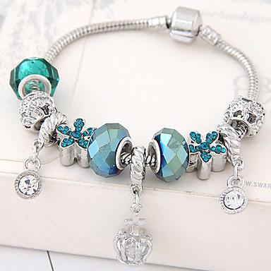 للمرأة أساور ساحرة موضة حجر الراين سبيكة وردة مجوهرات حزب عيد ميلاد مجوهرات أزرق