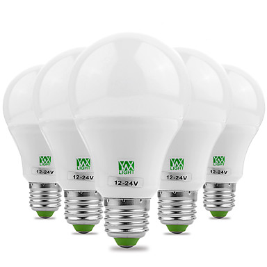 ywxlight® 7w e26 / e27 renkli ampuller 14 smd 5730 600-700 lm sıcak beyaz soğuk beyaz dekoratif ac 12 dc 12-24 v 5adet