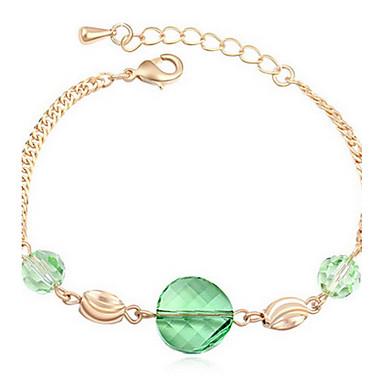 Kadın's Zincir & Halka Bileklikler Mücevher Arkadaşlık Moda Zirkon alaşım Geometric Shape Mücevher Uyumluluk Parti Doğumgünü