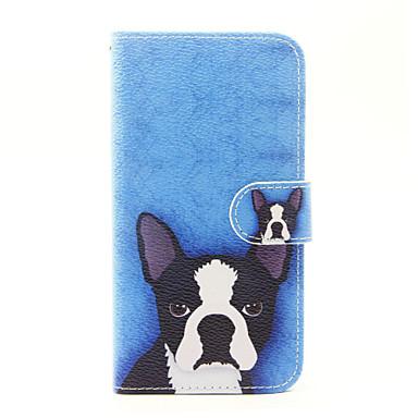 Varten Lomapkko Korttikotelo Tuella Flip Etui Kokonaan peittävä Etui Koira Kova Tekonahka varten AppleiPhone 7 Plus iPhone 7 iPhone 6s