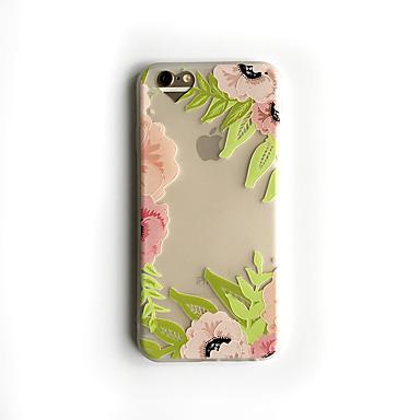 Için Buzlu Yarı Saydam Pouzdro Arka Kılıf Pouzdro Çiçek Yumuşak TPU için Apple iPhone 6s Plus iPhone 6 Plus iPhone 6s iphone 6
