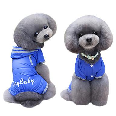 Pies Płaszcze Bluzy z kapturem Kombinezon Płaszcz przeciwdeszczowy Ubrania dla psów W stylu brytyjskim Dark Blue Fuchsia Nylon Kostium