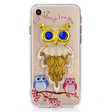 Για Ρέον υγρό Διαφανής Φτιάξτο Μόνος Σου tok Πίσω Κάλυμμα tok Κουκουβάγια Λάμψη γκλίτερ Μαλακή TPU για AppleiPhone 7 Plus iPhone 7 iPhone
