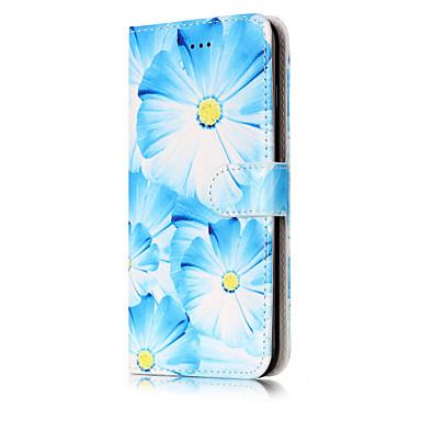 Varten Korttikotelo Lomapkko Tuella Flip Kuvio Etui Kokonaan peittävä Etui Kukka Kova Tekonahka varten AppleiPhone 7 Plus iPhone 7 iPhone