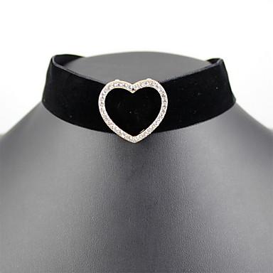 Pentru femei Coliere Choker Bijuterii Piatră Preţioasă Reșină Aliaj Heart Shape Bijuterii Natură Personalizat Euramerican Negru Bijuterii