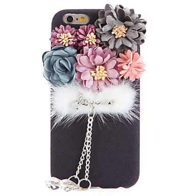 Varten Paljetti DIY Etui Takakuori Etui Kukka Pehmeä Tekstiili varten Apple iPhone 7 Plus iPhone 7 iPhone 6s Plus/6 Plus iPhone 6s/6
