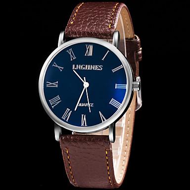 Bărbați Ceas Sport Ceas Elegant Ceas La Modă Ceas de Mână Quartz Mare Dial Piele Autentică Bandă Charm Multicolor