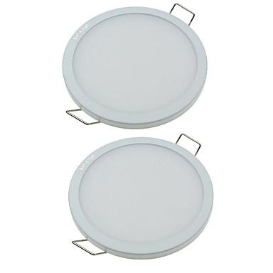 youoklight 2 kpl 8w ac85-265v 32xsmd4014 650lm lämmin valkoinen / kylmä valkoinen 3000K / 6000K integraatio paneeli valo