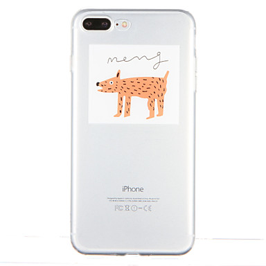 Için Şeffaf Temalı Pouzdro Arka Kılıf Pouzdro Köpek Yumuşak TPU için AppleiPhone 7 Plus iPhone 7 iPhone 6s Plus iPhone 6 Plus iPhone 6s