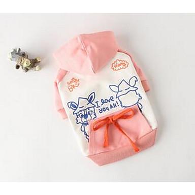 Koira Liivi Koiran vaatteet Sievä Rento/arki Sarjakuva Oranssi Pinkki