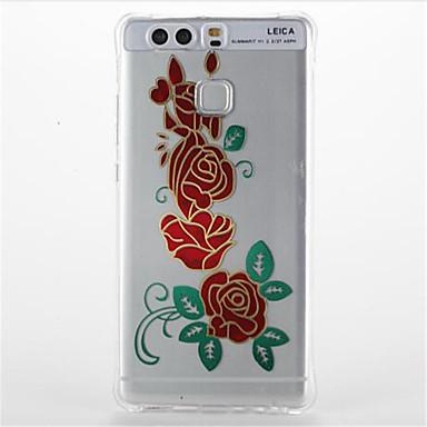 tok Για Huawei Ανθεκτική σε πτώσεις Διαφανής Με σχέδια Πίσω Κάλυμμα Λουλούδι Μαλακή TPU για Huawei P9 Huawei P9 Lite Huawei P8 Lite
