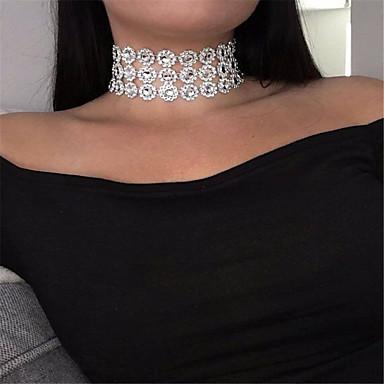 billige Mode Halskæde-Dame Enlig Snor Kort halskæde Damer Personaliseret minimalistisk stil Mode Hvid Halskæder Smykker Til Fest Speciel Lejlighed Daglig Afslappet udendørs
