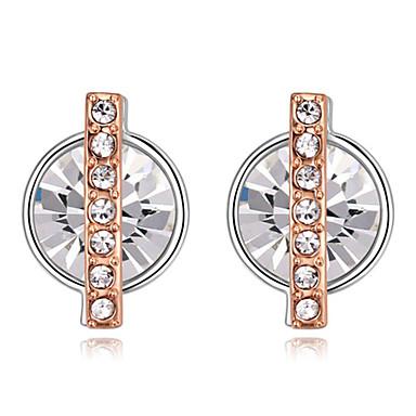 Damskie Kolczyki na sztyft Kryształ Modny Kryształ Pozłacane Circle Shape Biżuteria Codzienny Casual