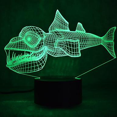 kala koskettaa himmennys 3d led yövalo 7colorful sisustus tunnelmaa lamppu uutuus valaistus kevyt