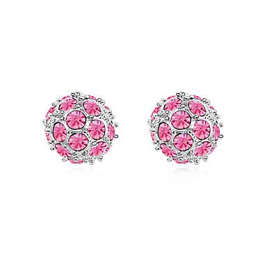 Γυναικεία Κουμπωτά Σκουλαρίκια Κρυστάλλινο Κυκλικό Μοντέρνα Εξατομικευόμενο Euramerican μινιμαλιστικό στυλ Κοσμήματα Για Γάμου Πάρτι