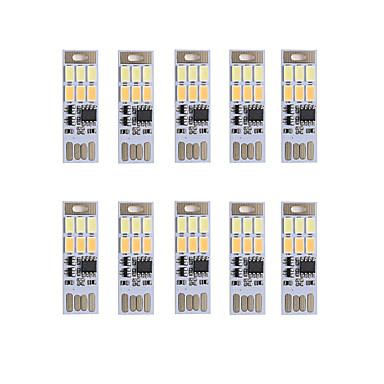 Brelong karartma usb 3w 6x5730 gece hafif dokunmatik anahtarı dokunmatik çift ışık rengi (dc5v) 10pcs