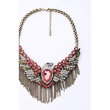 Kadın's Tellerinin Kolye Kanatlar / Tüy Moda Kişiselleştirilmiş Euramerican Kırmzı Mücevher Için 1pc