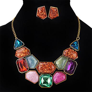 Damskie Zestawy biżuterii Multi-kamień Kryształ Kwadrat Modny euroamerykańskiej Ślub Impreza Specjalne okazje Syntetyczne kamienie