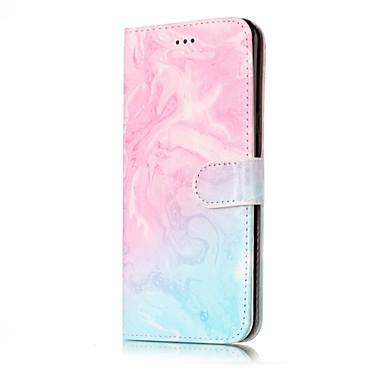 hoesje Voor Samsung Galaxy S8 Plus S8 Kaarthouder Portemonnee met standaard Flip Volledig hoesje Marmer Hard PU-nahka voor S8 Plus S8 S7
