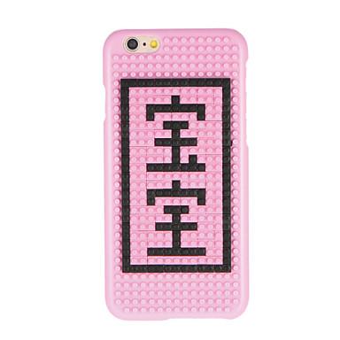 Varten Kuvio DIY Etui Takakuori Etui Sana / lause Kova PC varten AppleiPhone 7 Plus iPhone 7 iPhone 6s Plus iPhone 6 Plus iPhone 6s
