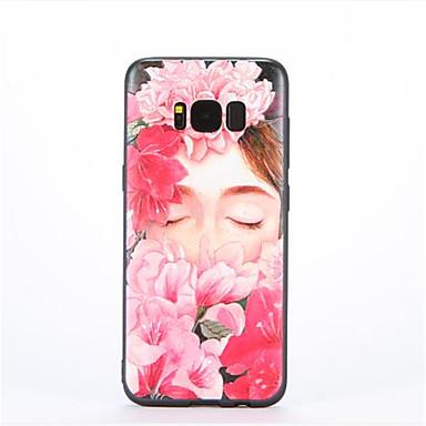 Kılıf Na Samsung Galaxy Wzór Czarne etui Kwiaty Miękkie TPU na S8