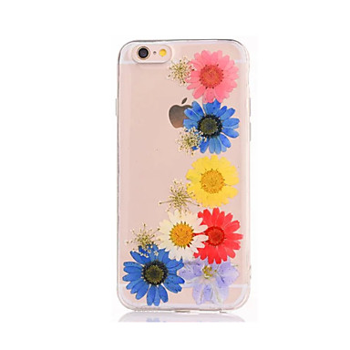 Varten DIY Etui Takakuori Etui Kukka Pehmeä TPU varten AppleiPhone 7 Plus iPhone 7 iPhone 6s Plus iPhone 6 Plus iPhone 6s iPhone 6 iPhone